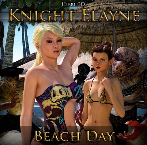 Artist Hibbli3D – Knight Elayne – Beach Day Part 1