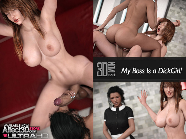 Artist 3D Simon – My Boss is a Dickgirl