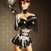Artist Miki3DX – Denise Latex Maid