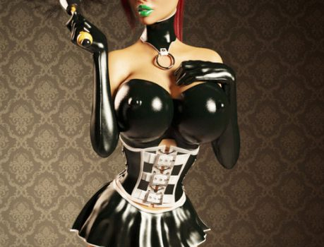 Artist Miki3DX – Denise Latex Maid
