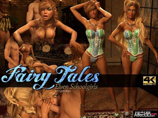 Artist Gator3D – Fairy Tales – Elven Schoolgirls