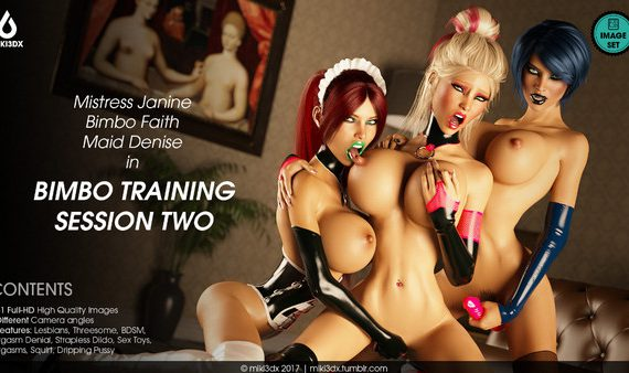 Artist Miki3DX – Bimbo Training Session Two