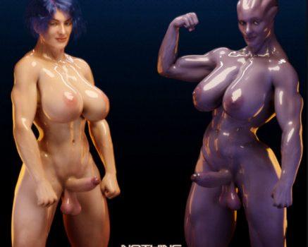 Artist Squarepeg3D – Futa Effect – Heilla vs Melanie