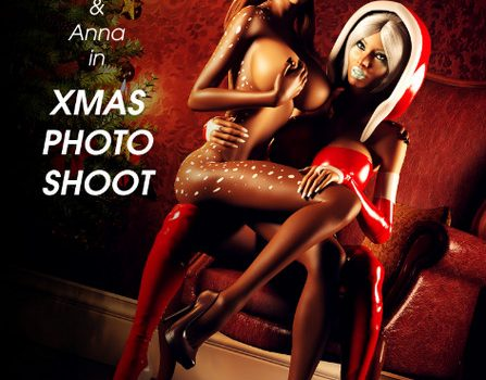Artist Miki3DX – Denise & Anna in Xmas Photo Shoot