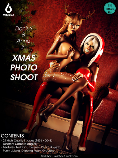 Artist Miki3DX – Denise & Anna in Xmas Photo Shoot