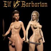Artist Sarubo3d - Elf vs Barbarian