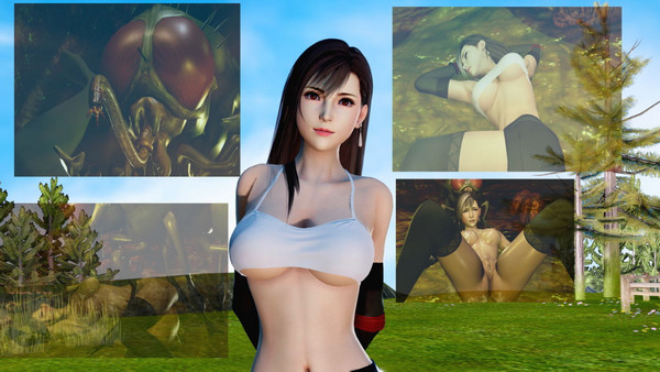 Tifa in the nest of the midgar fly