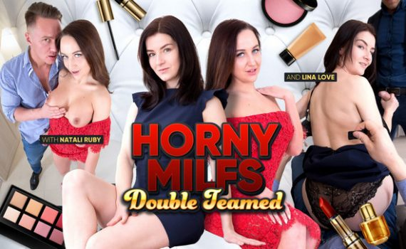 Horny MILFs Double Teamed